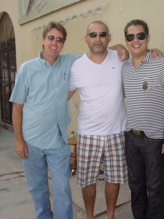 From left to right: Les Drent, Victor Calvo, and Miguel Pinto of Kauai Cigar. Miguel will be working with Guiermo Calvo as mainland distributors for the company's new brands, the Hawaiian Vintage Series, and Makaleha.