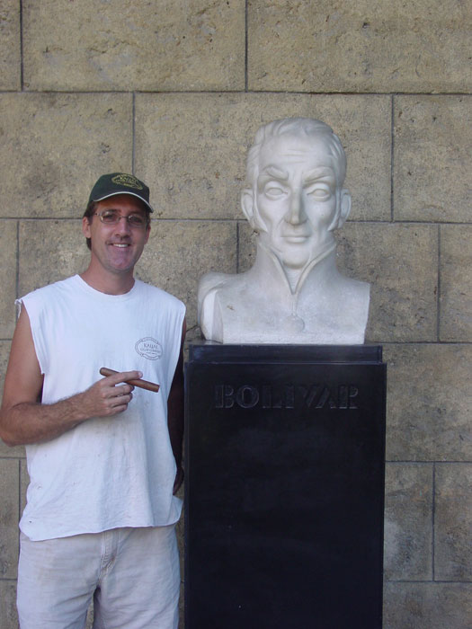 My man Simon Bolivar, the Liberator! I love his cigars!!!