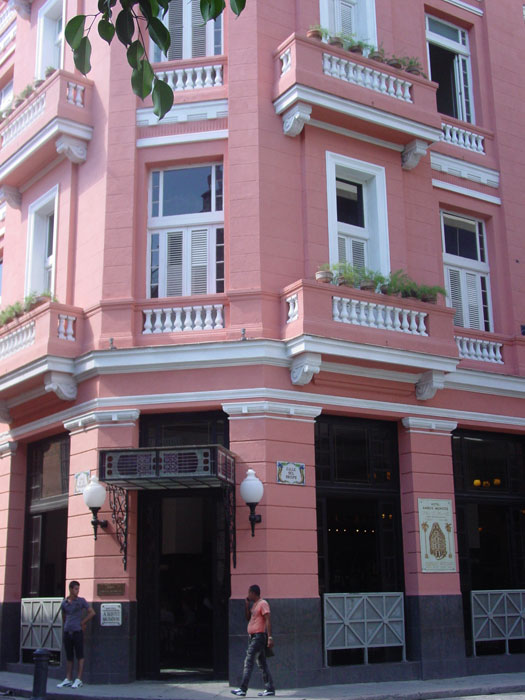 Ernest Hemingway's old stomping grounds in Havana. Hotel Ambos Mundos. The first five chapters of For Whom the Bell Tolls was written here.