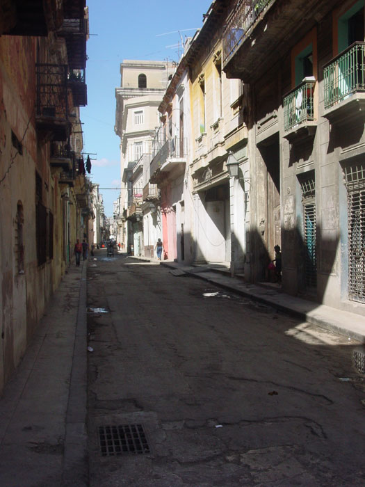 Quiet street in old Havana