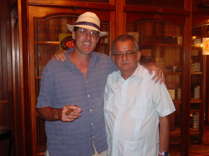 Carlos Robaina, Alejandro Robaina's son, was all hospitality when I visited their national cigar shop.