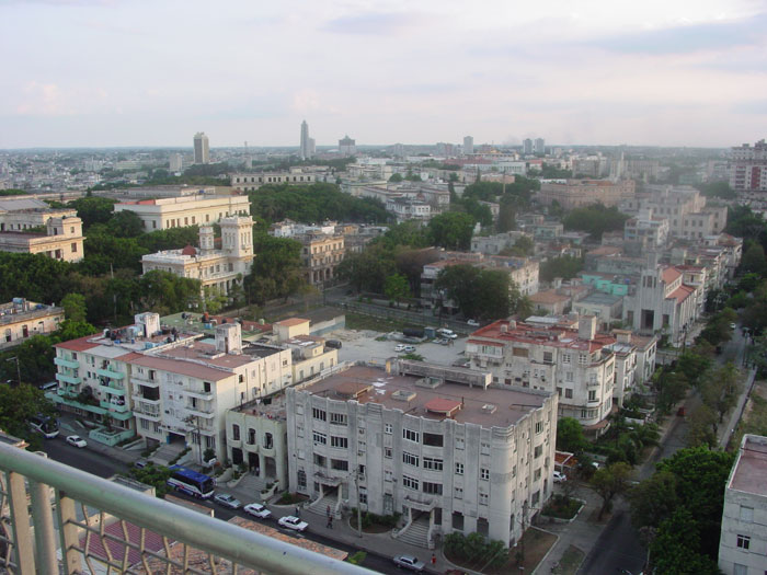 A view of Havana from the hotel