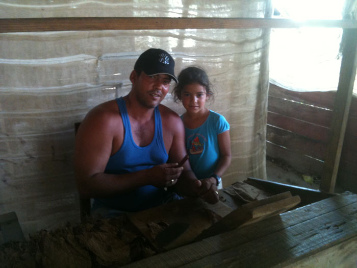Irochi Robaina and one of his beautiful daughters at the family farm.